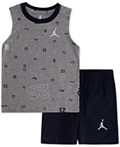 8f08242de Jordan Little Boys 2-Pc. Cotton Printed Sleeveless T-Shirt & Shorts Set