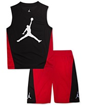 171ea6118d5 Jordan Toddler Boys 2-Pc. Colorblocked Sleeveless T-Shirt & Shorts Set