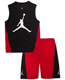 Jordan Little Boys 2-Pc. Colorblocked Sleeveless T-Shirt & Shorts Set