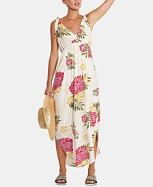 Juniors' Floral Print Maxi Dress