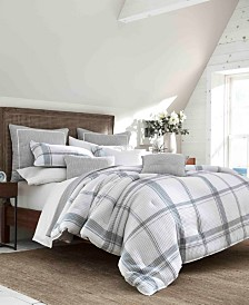 Nautica Bronwell Grey Duvet Set, Full/Queen