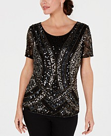 Embellished Hand-Beaded Top, Created for Macy's