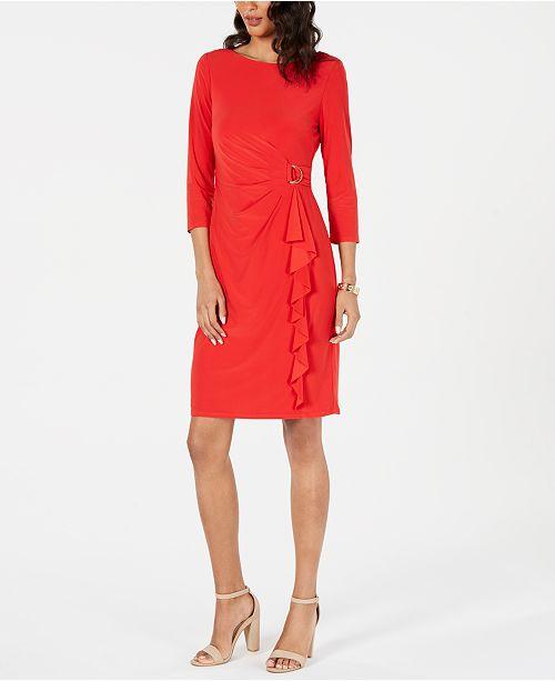 Jessica Howard Buckle-Side Sheath Dress