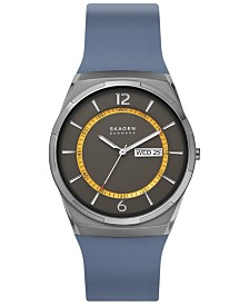 Skagen Men's Melbye Navy Silicone Strap Watch 40mm
