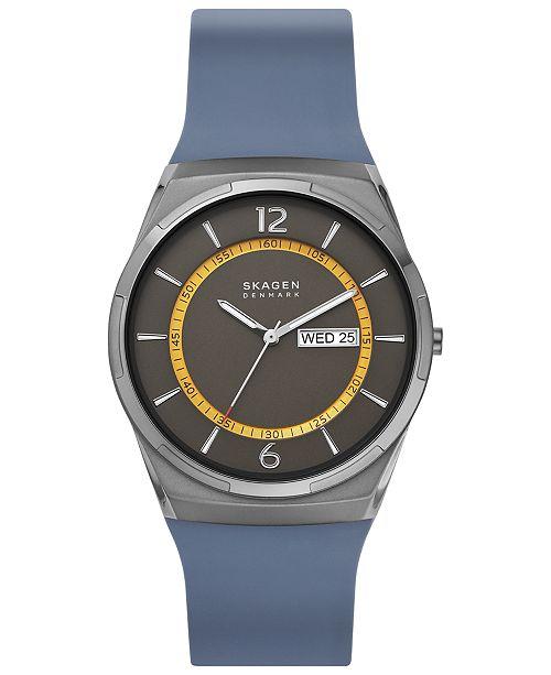 Skagen Men's Melbye Navy Silicone Strap Watch 40mm