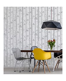 "Sydow Birch Tree Wallpaper - 396"" x 20.5"" x 0.025"""