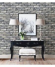 """Brewster Home Fashions Painted Brick Wallpaper - 396"""" x 20.5"""" x 0.025"""""""