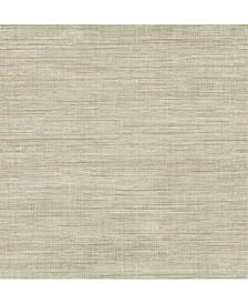"Woven Faux Grasscloth Wallpaper - 396"" x 20.5"" x 0.025"""