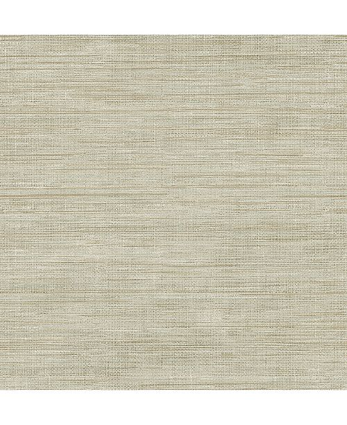 "Brewster Home Fashions Woven Faux Grasscloth Wallpaper - 396"" x 20.5"" x 0.025"""