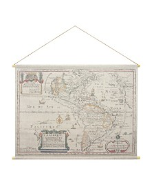 "Brewster Home Fashions L'Amerique Hanging Linen Tapestry - 51"" x 49.5"" x 0.125"""