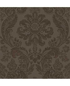 "Shadow Damask Wallpaper - 396"" x 20.5"" x 0.025"""