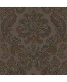 "Brewster Home Fashions Shadow Damask Wallpaper - 396"" x 20.5"" x 0.025"""