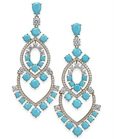Eliot Danori Crystal Chandelier Earrings, Created for Macy's