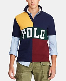 Polo Ralph Lauren Men's Classic-Fit Color Block Mesh Polo Shirt