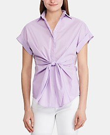 Lauren Ralph Lauren Tie-Front Shirt