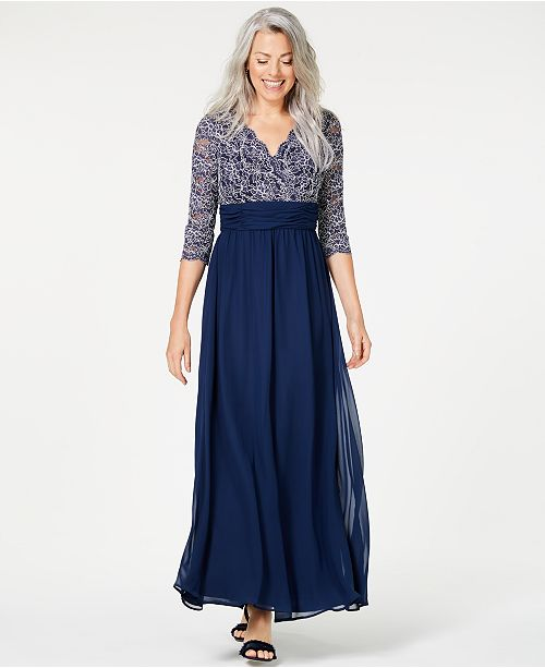 Jessica Howard Glitter Lace Gown