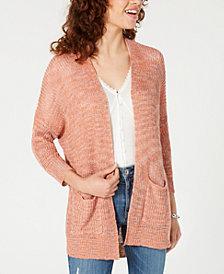 American Rag Juniors' Drop-Shoulder Cardigan Sweater, Created for Macy's