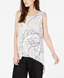 Alfani Printed Sleeveless Top, Created for Macy's