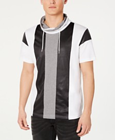 I.N.C. Men's Colorblocked Hooded T-Shirt, Created for Macy's