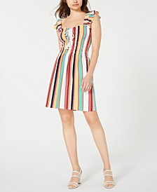 Striped Ruffled Dress