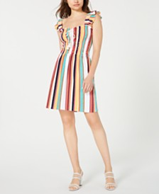 Juicy Couture Striped Ruffled Dress