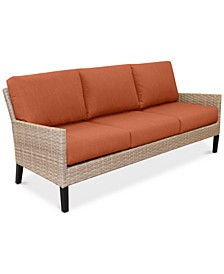 Amari Parchment Outdoor Sofa With Sunbrella® Cushions