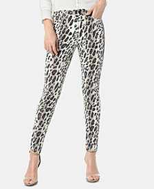 The Charlie Printed Skinny Ankle Jeans