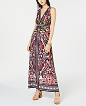 be0383905e I.N.C. Petite Mixed-Print Maxi Dress, Created for Macy's