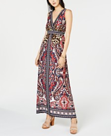 I.N.C. Petite Mixed-Print Maxi Dress, Created for Macy's