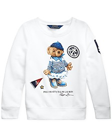 Polo Ralph Lauren Little Girls French Terry Bear Pullover