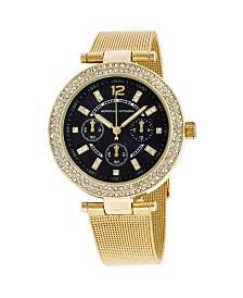 Adrienne Vittadini Collection Women's Navy Dial Analog Quartz Gold-Tone Watch