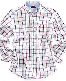 Cotton Plaid Shirt, Toddler Boys