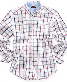 Tommy Hilfiger Check Buttondown Cotton Shirt, Big Boys