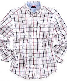 Tommy Hilfiger Cotton Plaid Shirt, Little Boys