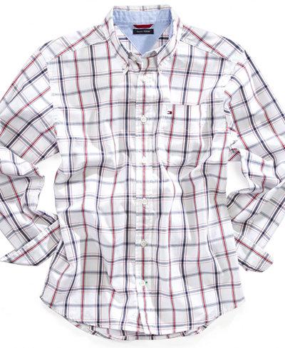 Tommy Hilfiger Cotton Plaid Shirt, Little Boys