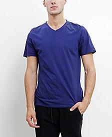 TMV002CJ Mens Cotton Jersey Short-Sleeve V-Neck T-Shirt
