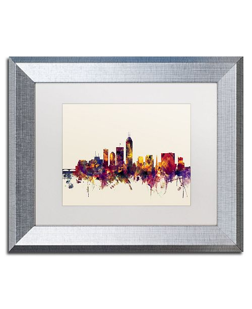 "Trademark Global Michael Tompsett 'Indianapolis Indiana Skyline' Matted Framed Art - 11"" x 14"""