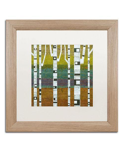 "Trademark Global Michelle Calkins 'Birches 2.0' Matted Framed Art - 16"" x 16"""