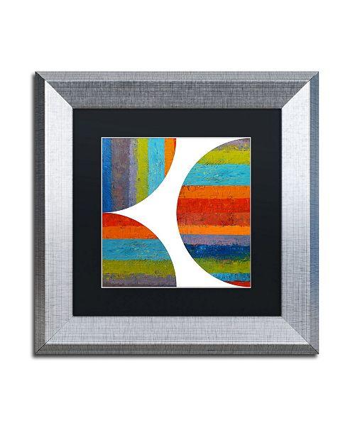 "Trademark Global Michelle Calkins 'Quarter Rounds 1.0' Matted Framed Art - 11"" x 11"""