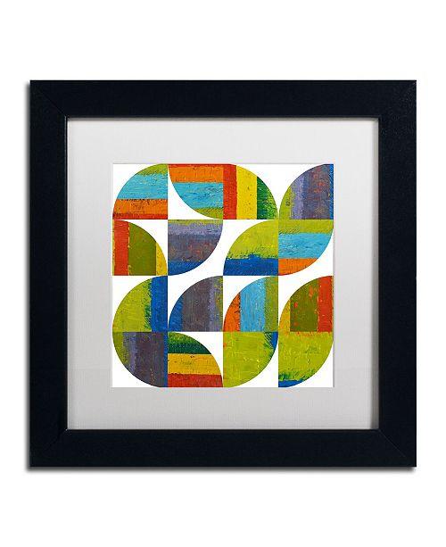 "Trademark Global Michelle Calkins 'Quarter Rounds 4.0' Matted Framed Art - 11"" x 11"""