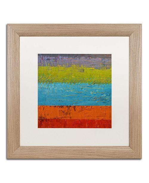 """Trademark Global Michelle Calkins 'Wetlands' Matted Framed Art - 16"""" x 16"""""""