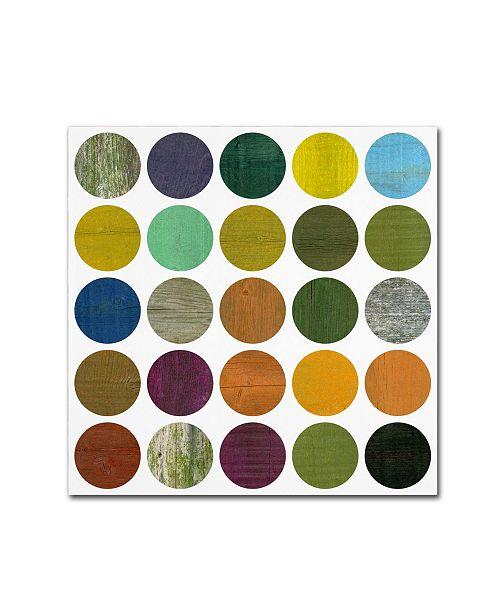 "Trademark Global Michelle Calkins 'Rustic Rounds 6.0' Canvas Art - 14"" x 14"""