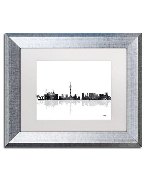 """Trademark Global Marlene Watson 'Las Vegas Nevada Skyline BG-1' Matted Framed Art - 11"""" x 14"""""""