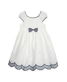 Puff Sleeve Bow Dress