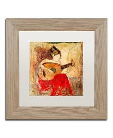 """Joarez 'Vanessa' Matted Framed Art - 11"""" x 11"""""""
