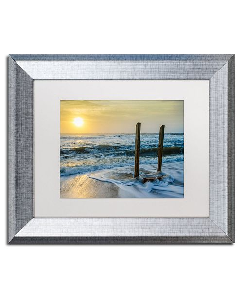 """Trademark Global PIPA Fine Art 'Kissed by the Sea' Matted Framed Art - 11"""" x 14"""""""