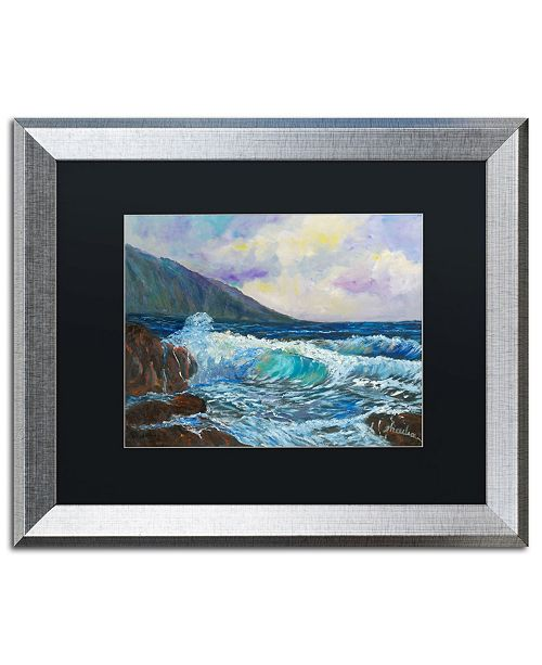 "Trademark Global Manor Shadian 'Maui's Enchanting Seas' Matted Framed Art - 16"" x 20"""