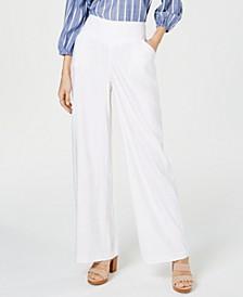 INC Petite Linen Wide-Leg Pants, Created for Macy's