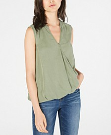 Faux-Wrap Top