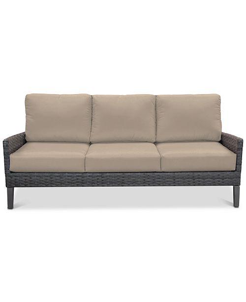 Furniture Amari Pepper Outdoor Sofa With Sunbrella